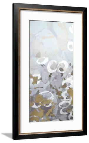 Metallic Foil Golden Droplets I-Jennifer Goldberger-Framed Art Print