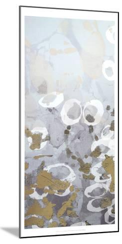 Metallic Foil Golden Droplets I-Jennifer Goldberger-Mounted Art Print