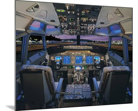 737 pilot-centered flight deck--Mounted Art Print