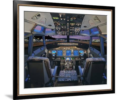 737 pilot-centered flight deck--Framed Art Print