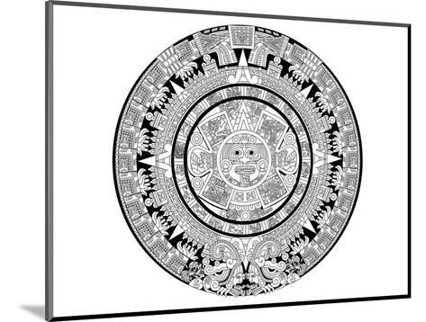 Aztec Calendar Coloring Art--Mounted Coloring Poster