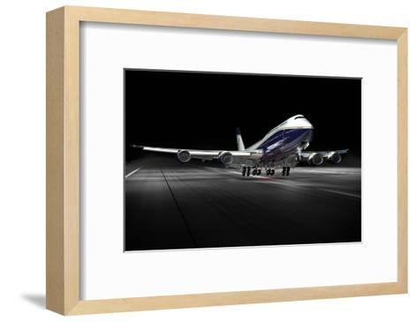 BBJ MAX 8 based on the 737 MAX 8--Framed Art Print