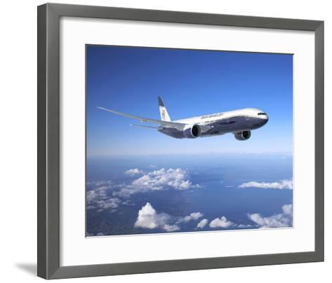 BBJ MAX 8 based on the 737 MAX 8--Framed Art Print