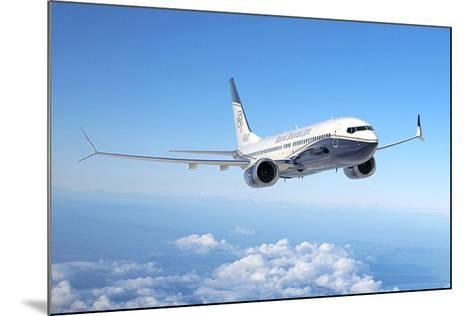 BBJ MAX 8 based on the 737 MAX 8--Mounted Premium Giclee Print