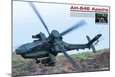 AH-64E Apache Helicopter--Mounted Premium Giclee Print