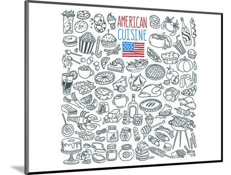 American Cuisine Coloring Art--Mounted Coloring Poster