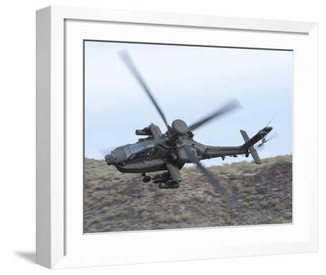 AH-64E Apache helicopter--Framed Art Print