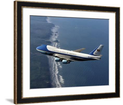 Boeing 747-200B Air Force One--Framed Art Print