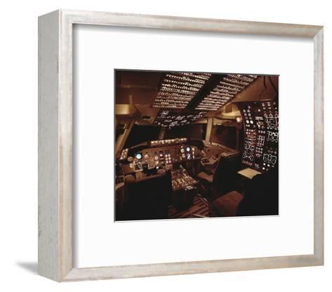 Boeing 767 Flight Deck lighting--Framed Art Print