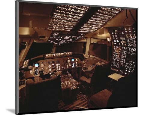 Boeing 767 Flight Deck lighting--Mounted Art Print