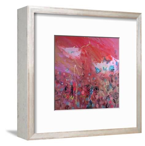 Blue butterfly- Westwood-Framed Art Print