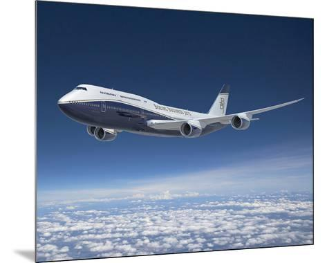BBJ MAX 8 based on the 737 MAX 8--Mounted Art Print