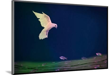 Dove wishing-Claire Westwood-Mounted Art Print