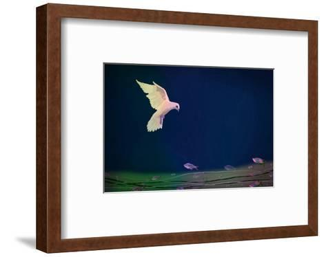Dove wishing-Claire Westwood-Framed Art Print