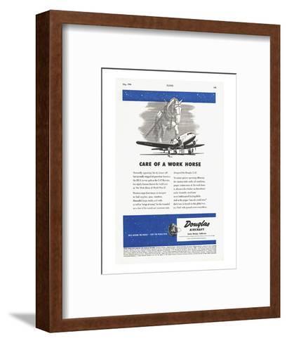 Care of a Work Horse Douglas ad--Framed Art Print