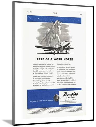 Care of a Work Horse Douglas ad--Mounted Art Print