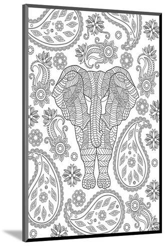 Elephane & Teardrop Coloring Art--Mounted Coloring Poster