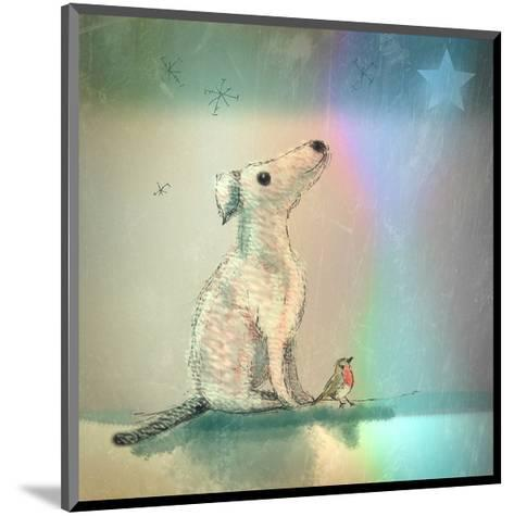 Dog and Starlight-Claire Westwood-Mounted Art Print