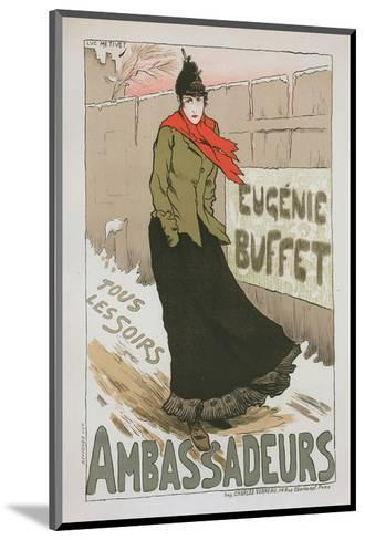 Eugénie Buffet - Ambassadeurs-Lucien Métivet-Mounted Art Print