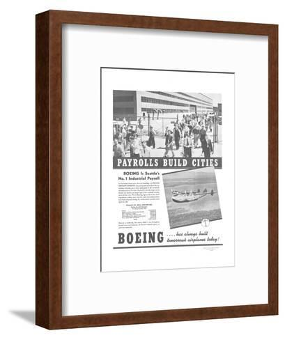 Boeing Industrial Payroll--Framed Art Print