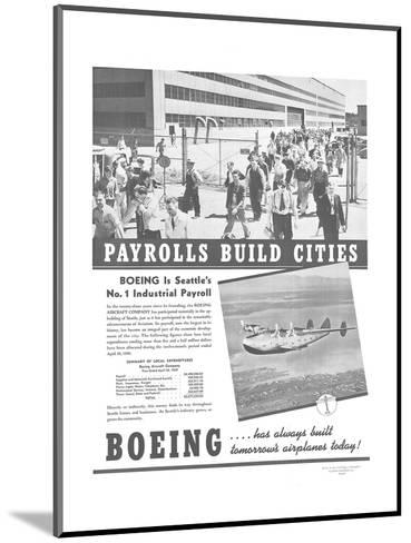Boeing Industrial Payroll--Mounted Art Print