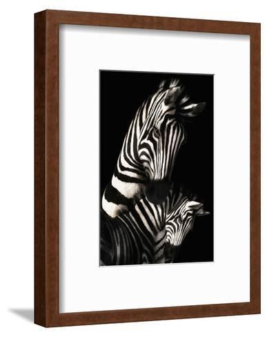 Camo-Zebra--Framed Art Print