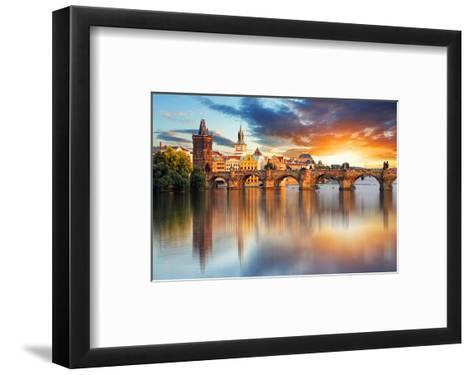Charles bridge Czech Republic--Framed Art Print