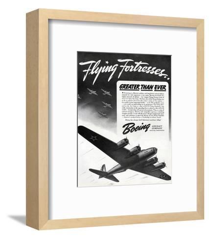 Flying Fortresses Boeing ad--Framed Art Print