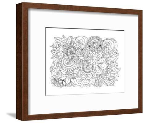 Flower Bouquet Coloring Art--Framed Art Print