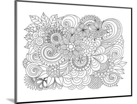Flower Bouquet Coloring Art--Mounted Coloring Poster