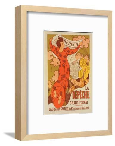 La Dépêche Grand Format-M. Denis-Framed Art Print