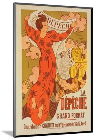 La Dépêche Grand Format-M. Denis-Mounted Art Print