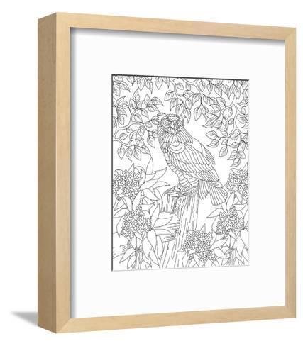 Forest Owl Coloring Art--Framed Art Print