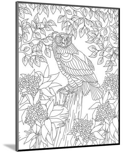 Forest Owl Coloring Art--Mounted Coloring Poster