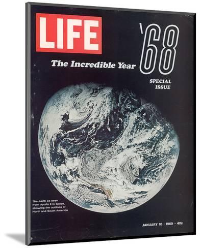 LIFE '68 the incredible year--Mounted Art Print