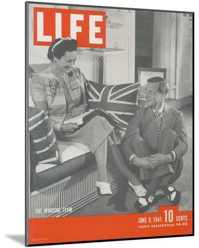 LIFE Duke & Duchess of Windsor--Mounted Art Print