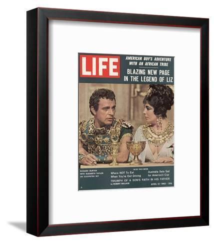 LIFE Burton-Taylor Cleopatra--Framed Art Print