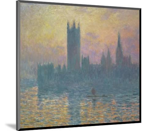 Houses of Parliament-Claude Monet-Mounted Art Print