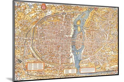 Plan of Paris from 1553-Truschet et Hoyau-Mounted Art Print