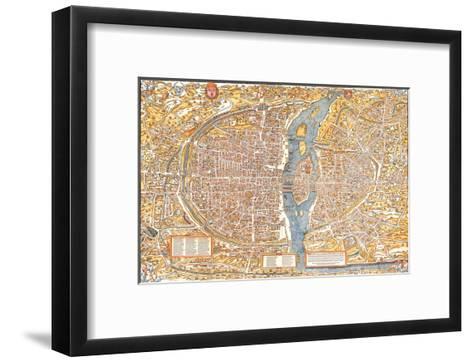 Plan of Paris from 1553-Truschet et Hoyau-Framed Art Print
