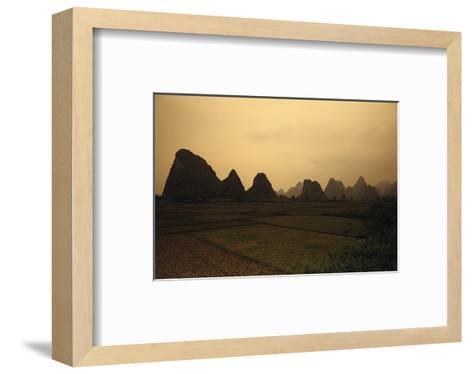 Mountain Landscape Guilin China--Framed Art Print