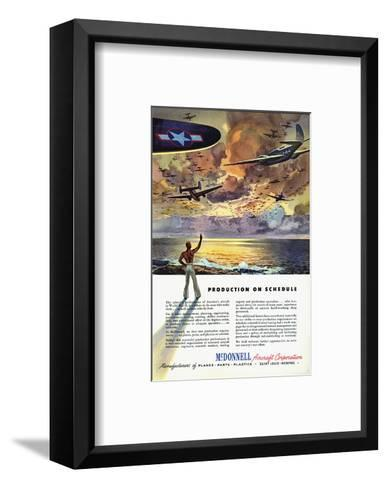 Production on Schedule McDonnell--Framed Art Print