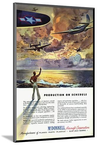 Production on Schedule McDonnell--Mounted Art Print