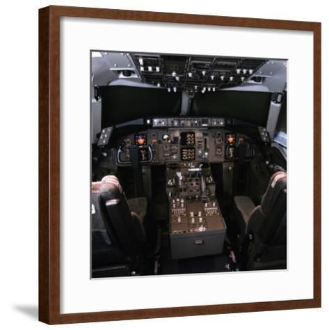 medium-range Boeing 757 Cockpit--Framed Art Print