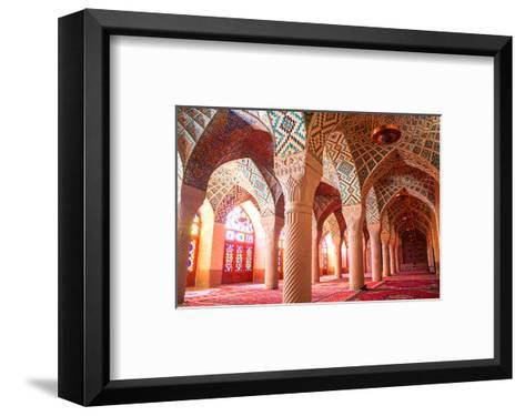 Nasir al-Mulk mosque Shiraz Iran--Framed Art Print