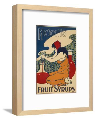 Metcalf's Fruit Syrups--Framed Art Print