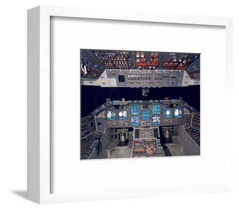Shuttle Flight Deck--Framed Art Print