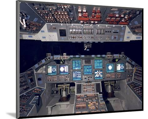 Shuttle Flight Deck--Mounted Art Print