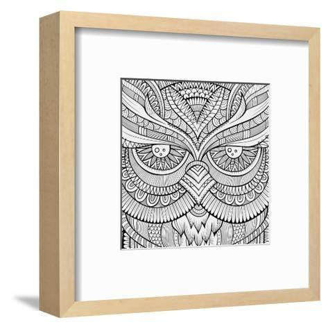Symmetric Wing Arches Coloring Art--Framed Art Print