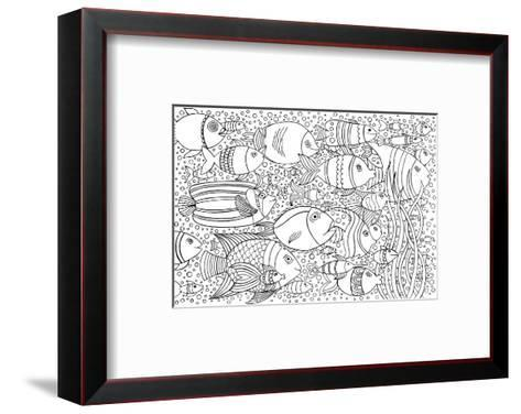 Tropical Fish Coloring Art--Framed Art Print